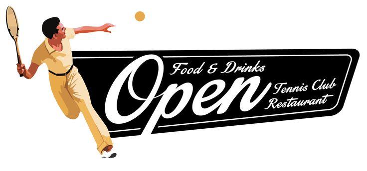 OPEN - Logo Restaurant #Tennis #Restaurant #Roma #ForoItalico #Food