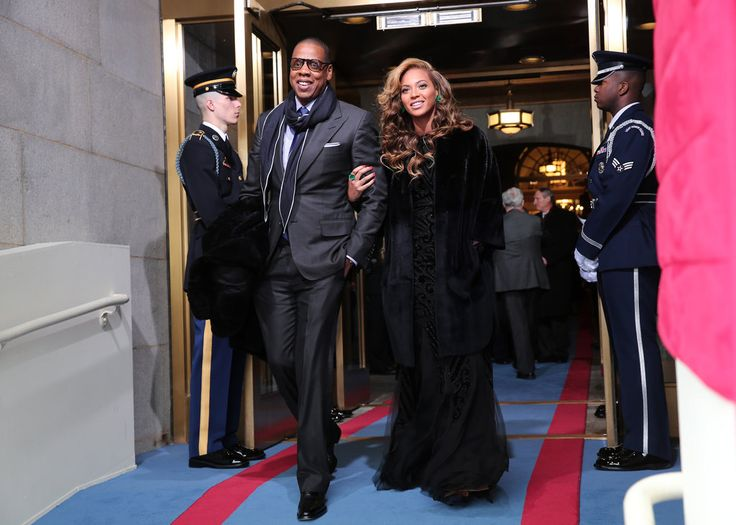 Jay-Z and Beyoncé Knowles at the 2013 Presidential Inauguration
