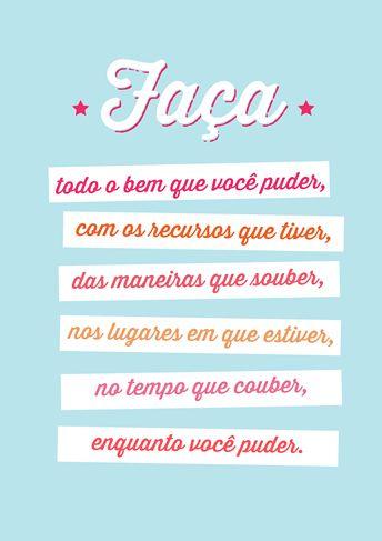 Poster Frase Faça todo o bem que voce puder - Decor10