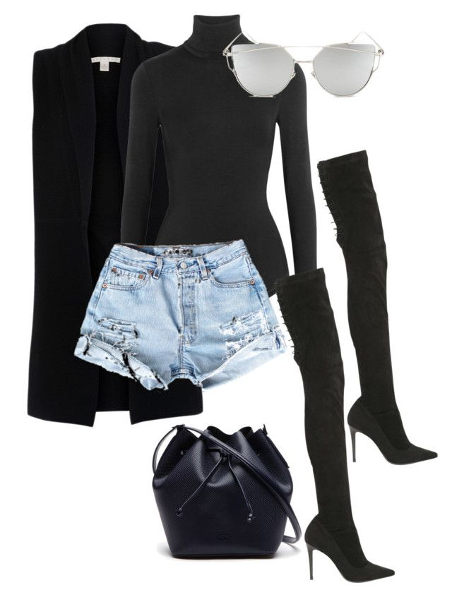 """""""Untitled #369"""" by eaubleue on Polyvore featuring Belford, Wolford, Strategia, Lacoste and Chicnova Fashion"""