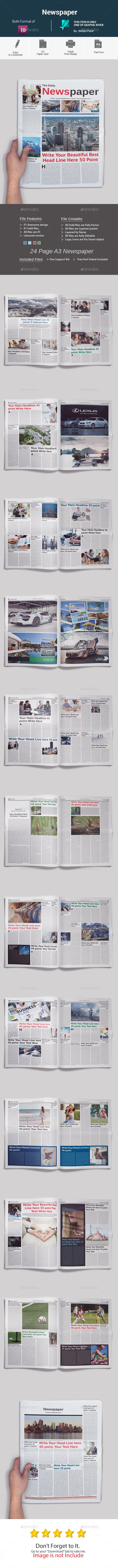 Buy Newspaper by Benjinpoint on GraphicRiver Newspaper
