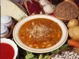 Ricetta Zuppa di farro, fagioli e prosciutto crudo
