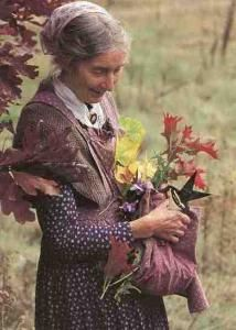 In this undated photo released by the family of Tasha Tudor, the illustrator is seen in Vermont.