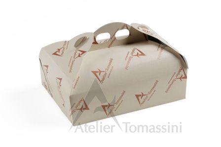 Porta Paste Classica Avorio Stampa Flexo Continua #packaging #ateliertomassini #portatorte #pasticceria #scatola #pastry #bakery #design #politenata #politenate #imballaggio #bakery #PE-protect