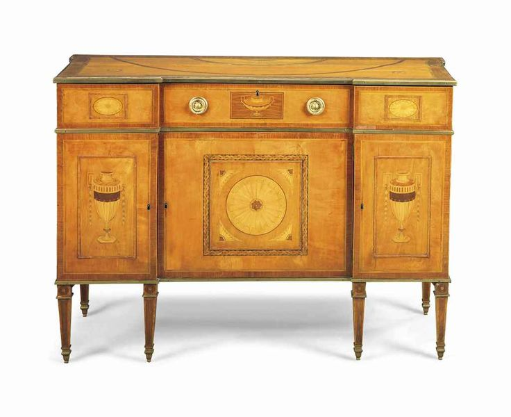 A GEORGE III ORMOLU-MOUNTED SATINWOOD, KINGWOOD AND PADOUK CROSSBANDED AND MARQUETRY COMMODE CIRCA 1775-80, POSSIBLY BY WILLIAM GATES  Price realised GBP 30,000