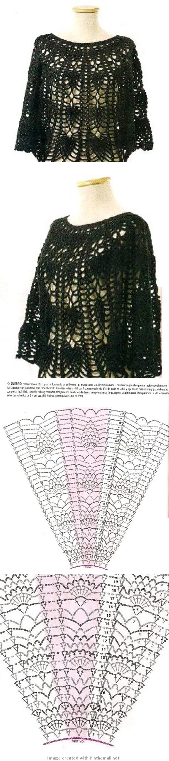 Crochet poncho --- http://crochet-plaisir.over-blog.com/categorie-12315194.html