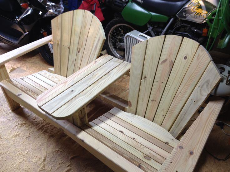 Free Plans For Double Adirondack Chair - WoodWorking Projects & Plans