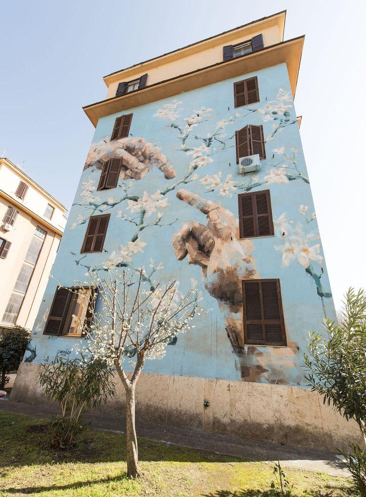 StreetArt Roma: Man Nature Distance | Jerico | 2015 | Location: Tor Marancia | #art #streetart #roma