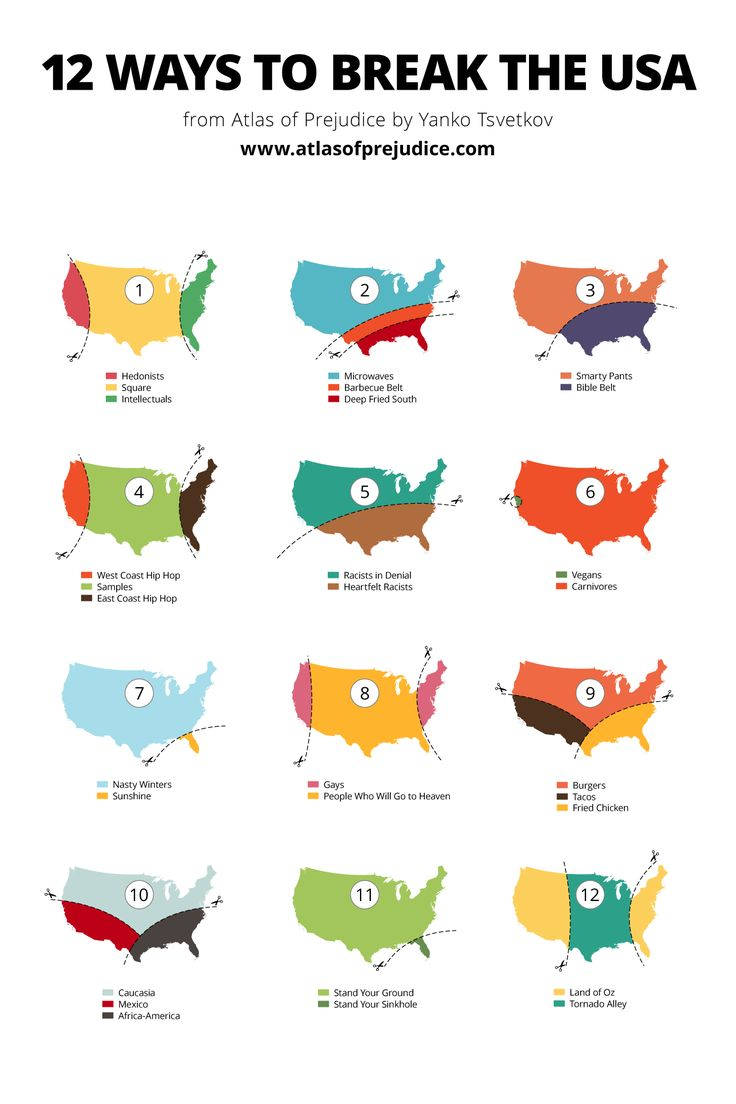 12 maps that explain what divides America