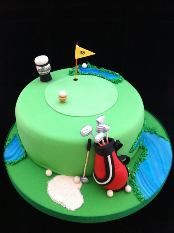 9 best Golf cake ideas images on Pinterest Golf cakes Cake ideas