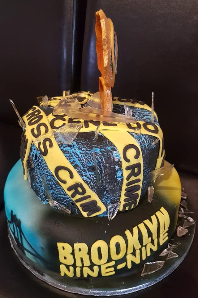 Brooklyn 99 Cake For Birthday Party Celebration Bolos De Aniversario Festa Aniversario