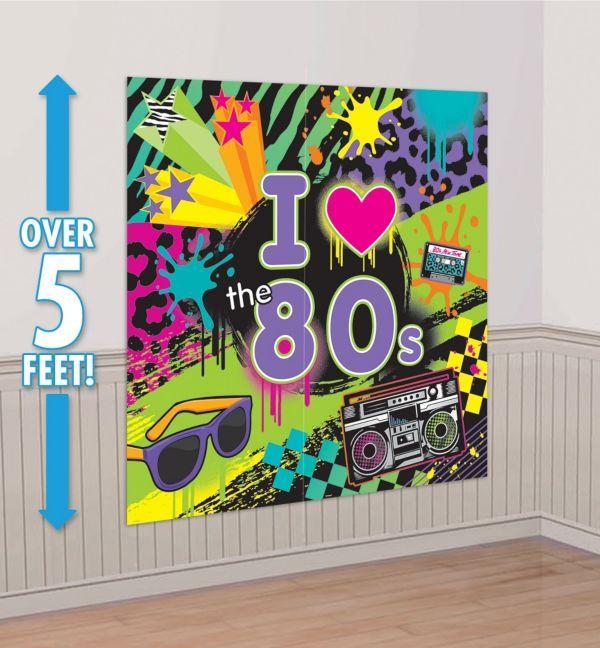 Totally 80s Scene Setter 2pc