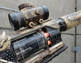 Stuff I Drood: Nerf mod/repaint- Recon CS-6 and Spectre Rev-5