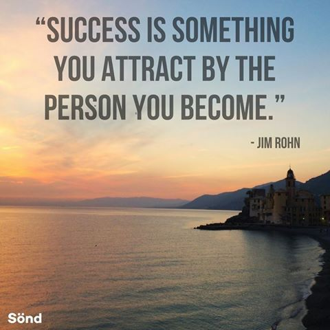 """Success is something you attract by the person you become."" - Jim Rohn #quote #inspiration #motivation"