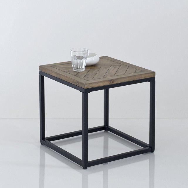 image Bout de canapé métal et bois, H40 cm, Nottingham La Redoute Interieurs