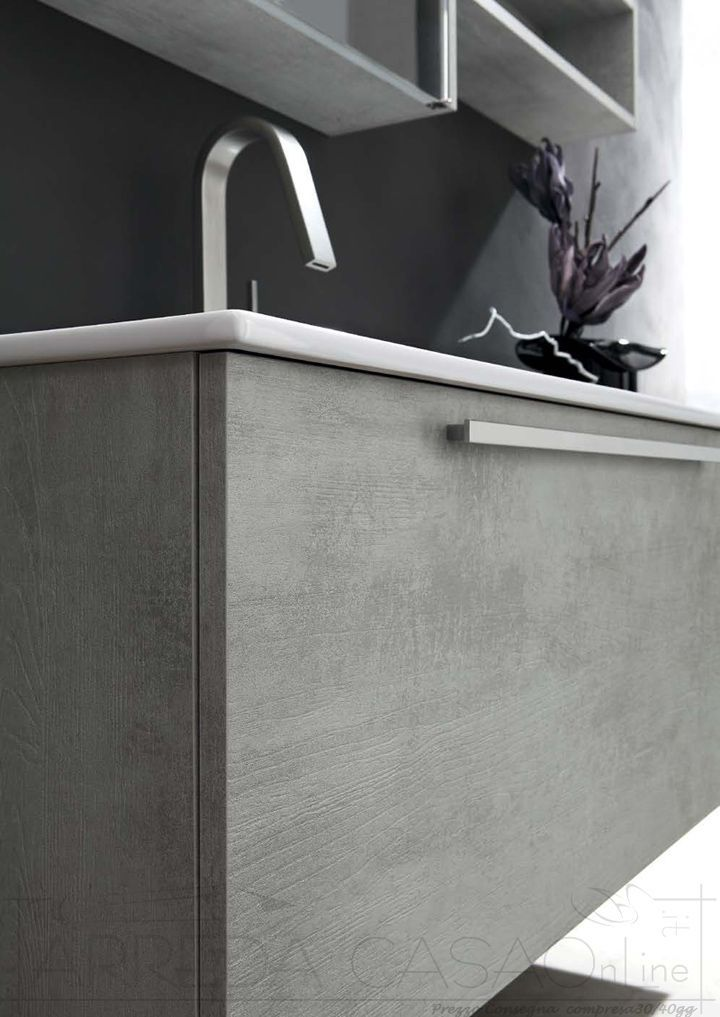 Arredo Bagno lavabo integrato specchio contenitore Ly40  Prezzo ...