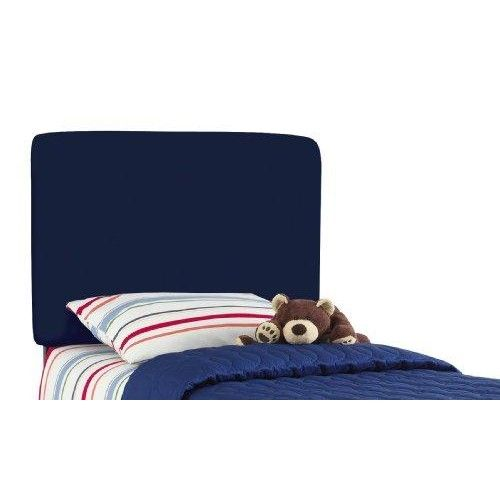 Aaron'S Full Kids Headboard By Skyline Furniture In Navy Cotton  This classic headboard will add style to your child's #bedroom. Hand crafted and upholstered in the US, this headboard has a solid wood frame, adjustable steel legs, and polyurethane foam padding. The #headboard is offered in many different colors to complement any bedspread. It is available in Twin and Full. Easy assembly required. Spot clean only.