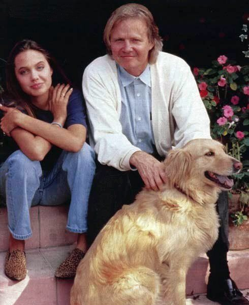 Jon Voight and daughter Angelina Jolie