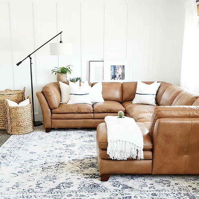 Caramel Sectional Living Room Dec - Modern home design ideas