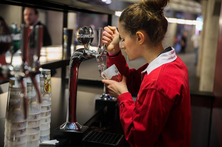 The bar in action at a busy match day at Twickenham Stadium