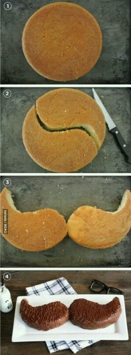 Food - How to make a Mustache cake