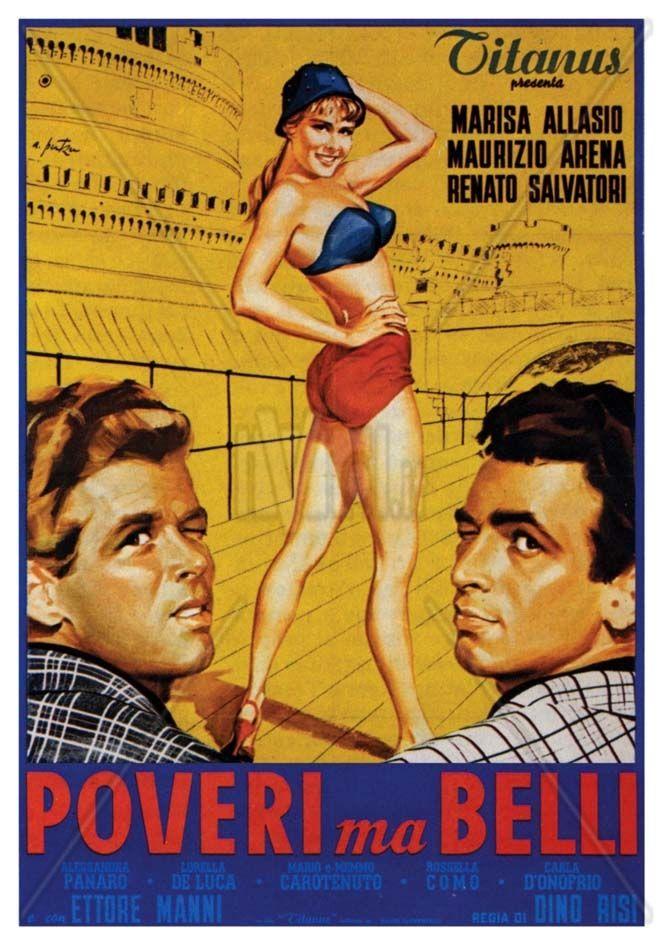 Poveri ma belli 1950 di Dino Risi con Marisa Allasio, Maurizio Arena, Renato Salvatori e Lorelle de Luca.