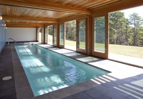 DUH! Make the walls of the indoor pool SLIDING ONES! Then it's automatically an indoor/outdoor pool! #strokeofgenius