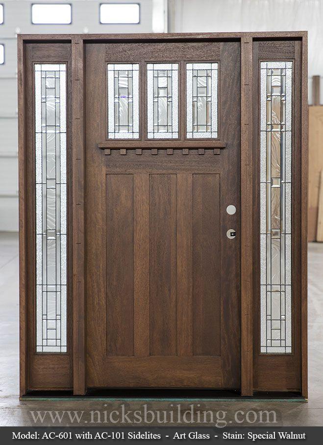 Craftsman Style Entrance Door With Dentil Shelf Craftsman Style Doors House Front Door Front Door Design