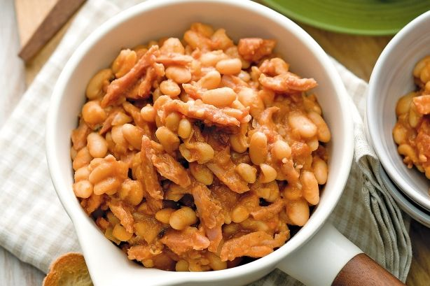 Boston baked beans  Get your fibre intake for the day with this tasty beans and ham recipe.