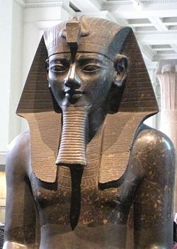 "Amenhotep III (Amenophis; Amāna-Ḥātpa, ""Amun is Satisfied""; Amenhotep the Magnificent) was the 9th pharaoh of the 18th dynasty. His reign was a period of prosperity and splendour, when Egypt reached the peak of her artistic and international power. Amenhotep III was the father of two sons with his Great Royal Wife Tiye, a queen considered the progenitor of monotheism through her first son, Crown Prince Thutmose, and second son, Amenhotep IV (Akhenaten)."
