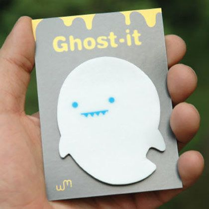 Ghost See through sticky memo notes 40 sheets by WM. This Ghost tracing sticky notes to help you keep your ideas, appointments and messages organized. It is made of tracing paper with adhesive. Repositionable adhesive won't mark paper and other surfaces.