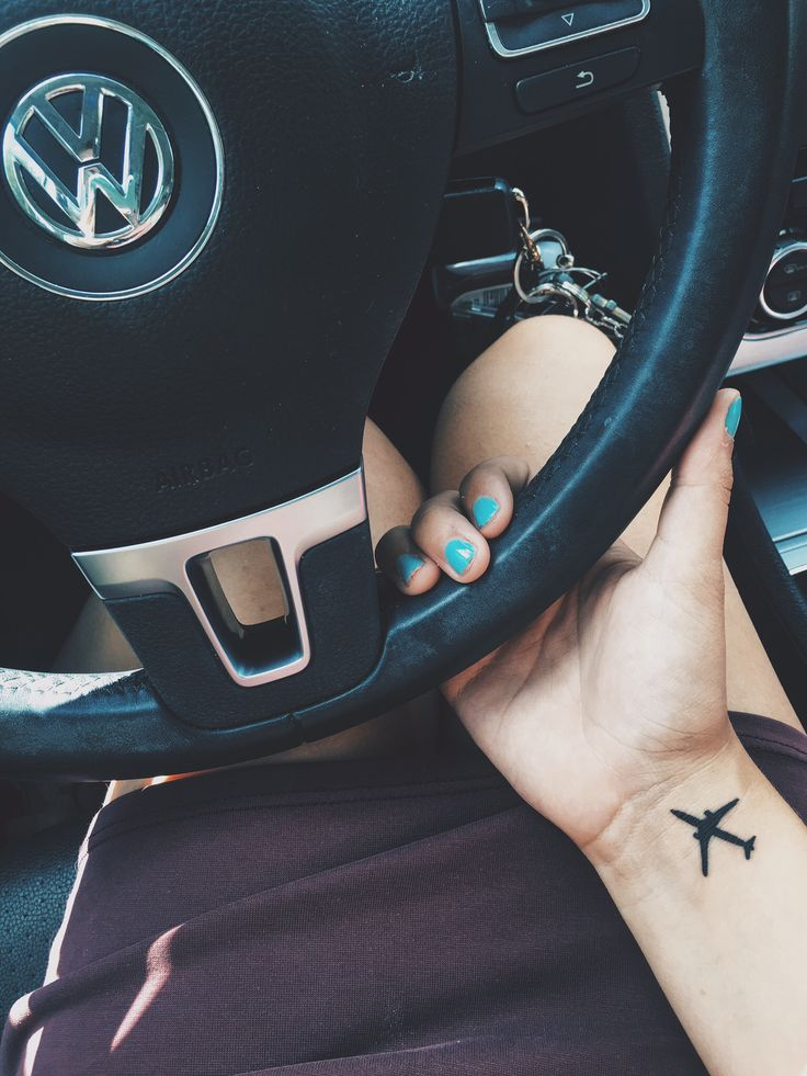 Travel tattoo. Airplane tattoo. #smalltattoo #tattoo #travel #taylorharvey   IG: taylorxharvey02