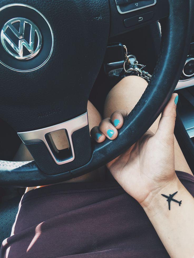 Travel tattoo. Airplane tattoo. #smalltattoo #tattoo #travel