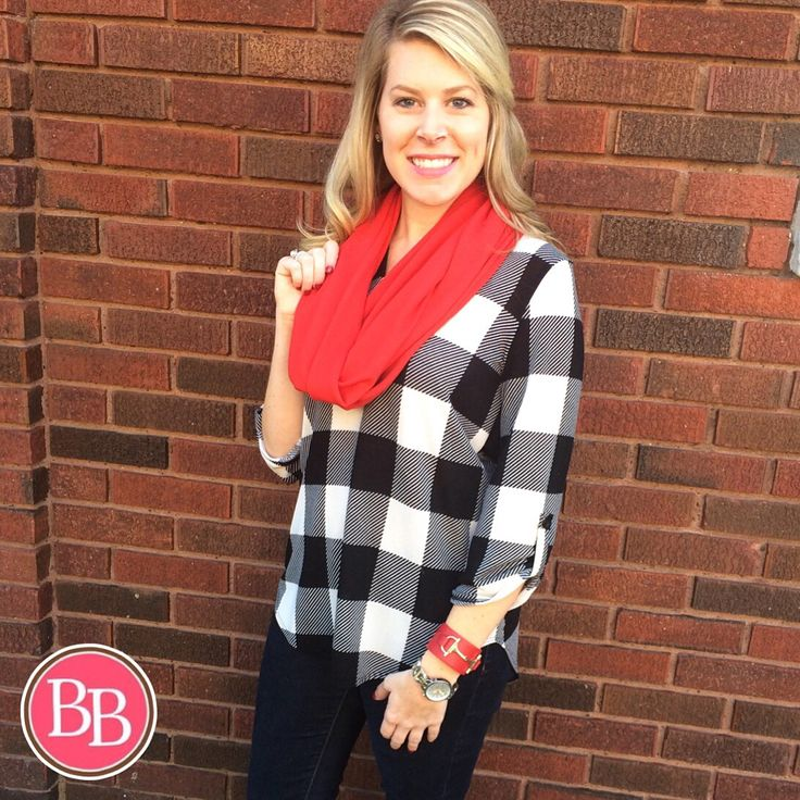 **RESTOCKED** Our Checkered V-Neck Tunic is a Best Seller this season!! • $32.99 • #BBGirls #fallfashion #plaid www.brandisboutiqueshop.co > Ladies > Tops & Tunics