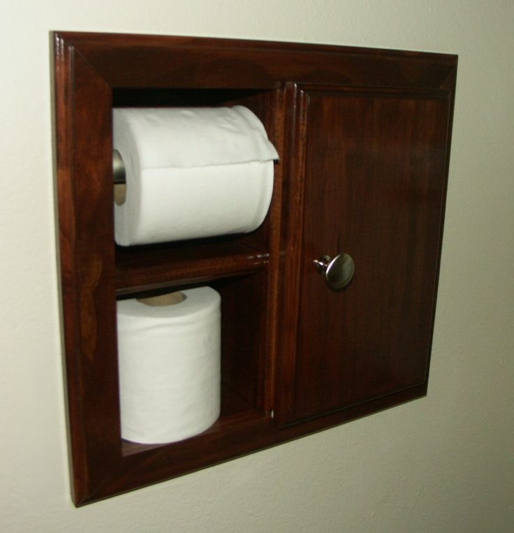 In wall TP Holder with Storage Cabinet -