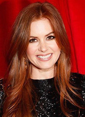 I love Isla Fisher's hair...I may need to go red again