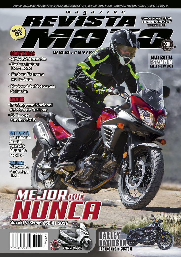 Tu Revista Moto edición 152 esta disponible para que la descargues a través de iTunes o GooglePlay, así como para solicitarla en formato impreso al correo de info@revistamoto.com www.revistamoto.com