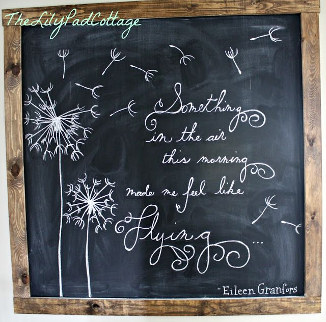 spring chalkboard from The Lily Pad Cottage