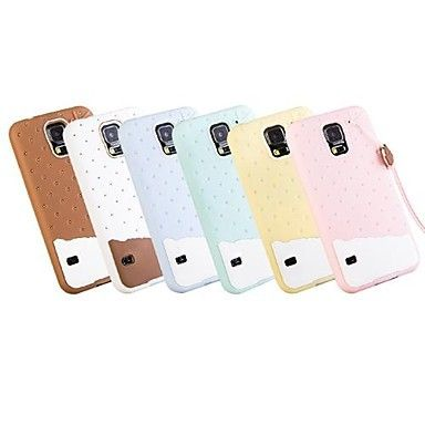 3D Soft Silicone Chocolate Ice Cream Case for Galaxy S5 i9600