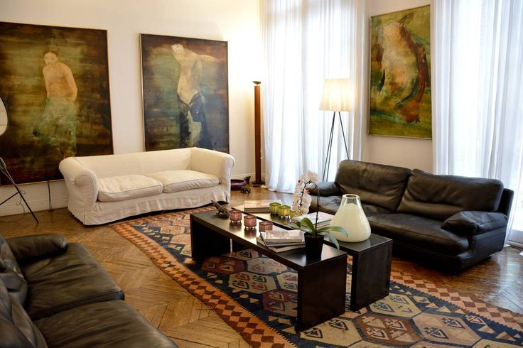 Apartment in Paris, France. My place is close to Champs Élysées, Arch de Triomphe, Eiffel Tower, Trocadéro, Le Relais de l'Entrecôte. You'll love my place because of the high ceilings, the location, the volume, the style. My place is good for couples, business travelers, fam...