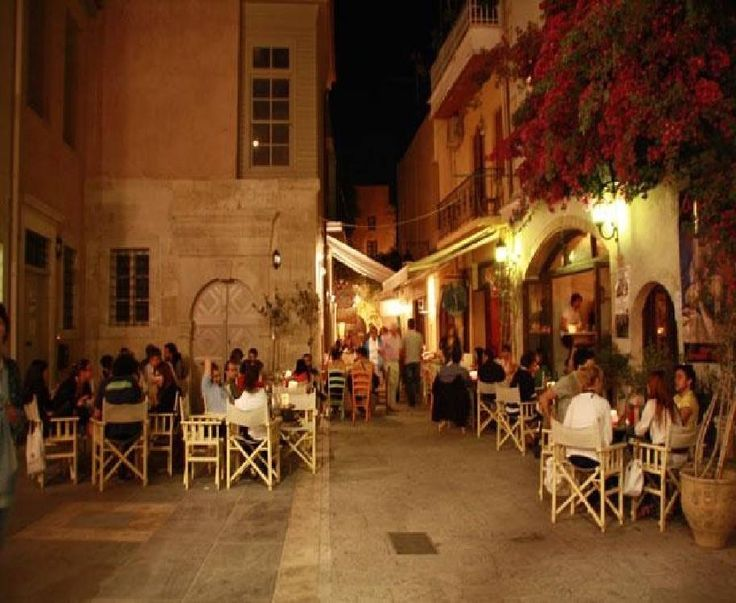 The Old Town of Rethymnon Crete Greece