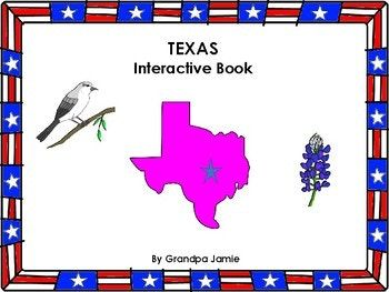 Social Studies, Texas State interactive book. Grade levels pre-k thru 2nd grade, special education, autism, life skills, home school, speech therapy. In this packet you will receive the State of Texas interactive book, a colored version and a black and white version of this product.