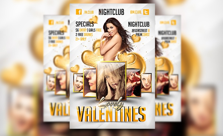 Another wonderful awesome valentines day flyer template:    http://awesomeflyer.com/shop/club-flyer/lovely-valentines-day-flyer-template/