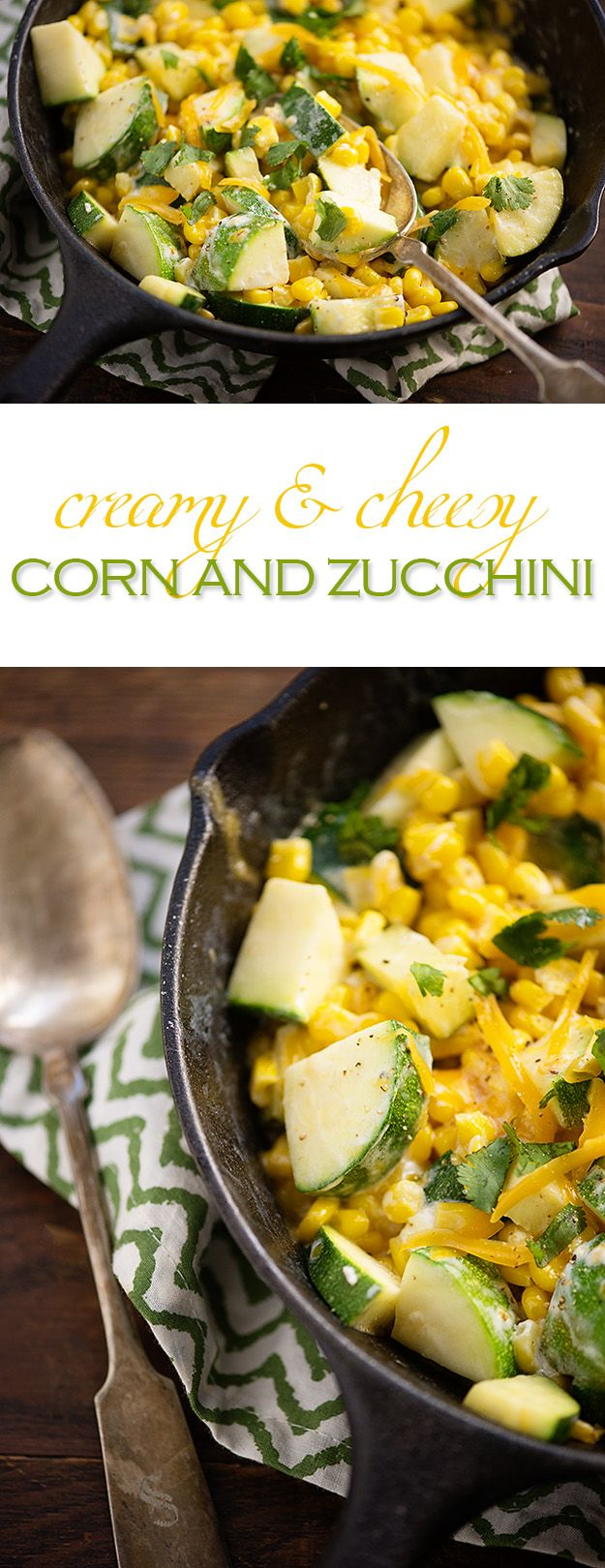 Creamy Corn and Zucchini | Recipe | The cheese, Vegetables and Ears of ...