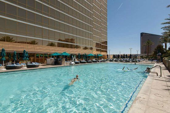 POOLS OF LAS VEGAS, NEVADA: The Trump Hotel Las Vegas is a 64-story hotel with suites. Beautiful cabanas are located on the terrace around the pool and terrace itself offers spectacular views over the Las Vegas Strip. ✶