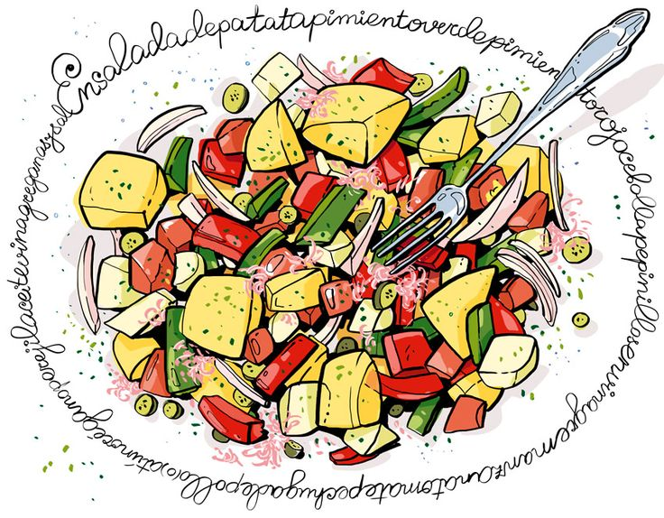 Cartoon Cooking: Ensalada con una patata