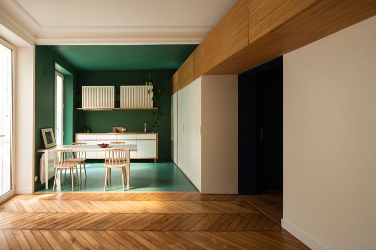 Completed in 2016 in Paris, France. Images by  Giaime Meloni        . The apartment of Carole and Robin is located on the ground floor of a mansion of the XVIIth arrondissement in Paris. Taking advantage of a private...