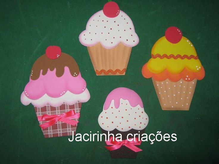 Moldes Cupcakes de foami | Goma Eva | Pinterest