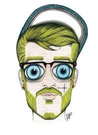 Peter ( Crayons de Couleur et Paillettes Format A3 (29,7 x 42cm) 700 € - Encadrement Inclus ) art@lrdparis.com www.geoffreyguillin.com #art