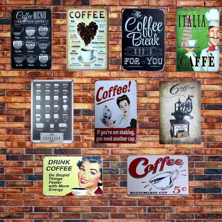 Cheap tin metal sign, Buy Quality tin sign directly from China tin signs vintage Suppliers: [ Mike86 ] CAFE MENU KNOW YOUR COFFEE TIN SIGN Old Wall Metal Painting ART Decor AA-230 Mix order 20*30 CM